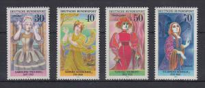 Bundesrepublik 1976 Bedeutende deutsche Frauen  Mi.-Nr. 908-911 **