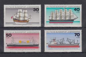 Bundesrepublik 1977 Jugend Deutsche Schiffe   Mi.-Nr. 929-932 **