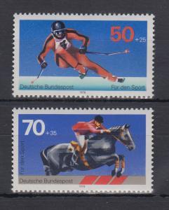 Bundesrepublik 1978 Sporthilfe Skiläufer und Springreiter Mi.-Nr. 958 + 968 **