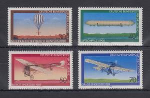Bundesrepublik 1978 Jugend Luftfahrt   Mi.-Nr. 964-967 **