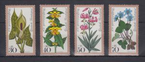 Bundesrepublik 1978 Wohlfahrt Waldblumen  Mi.-Nr. 982-985 **