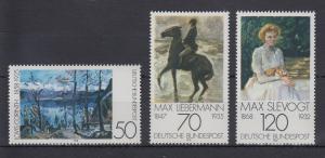 Bundesrepublik 1978 Deutscher Impressionismus  Mi.-Nr. 986-988 **