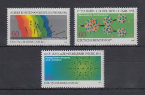 Bundesrepublik 1979 Nobelpreisträger der Physik u. Chemie Mi.-Nr. 1019-1021 **
