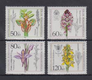 Bundesrepublik 1984 Wohlfahrt Orchideen  Mi.-Nr. 1225-1228 **