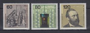 Bundesrepublik 1984 Blockeinzelmarken Weltpostkongress  Mi.-Nr. 1215-1217 **