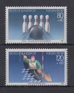 Bundesrepublik 1985 Sporthilfe Kegeln und Kanu  Mi.-Nr. 1238-1239 **