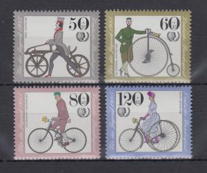 Bundesrepublik 1985 Jugend Historische Fahrräder  Mi.-Nr. 1242-1245 **