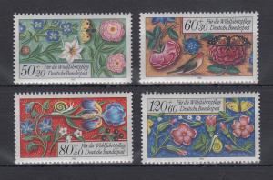 Bundesrepublik 1985 Wohlfahrt Miniaturen  Mi.-Nr. 1259-1262 **