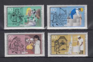Bundesrepublik 1986 Jugend Handwerksberufe  Mi.-Nr. 1274-1277 **