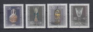Bundesrepublik 1986 Wohlfahrt Kostbare Gläser  Mi.-Nr. 1295-1298 **