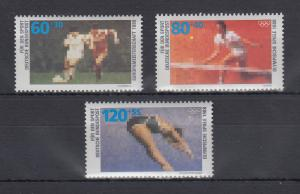 Bundesrepublik 1988 Sporthilfe Fußball-Europameisterschaft  Mi.-Nr.1353-1355 **