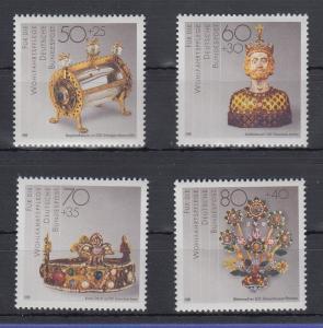 Bundesrepublik 1988 Wohlfahrt Gold u.Silberschmiedekunst  Mi.-Nr. 1383-1386 **