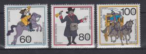 Bundesrepublik 1989 Wohlfahrt Postbeförderung   Mi.-Nr. 1437-1439 **