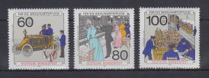 Bundesrepublik 1990 Wohlfahrt  Post und Telekommunikation Mi.-Nr .1474-1476 **
