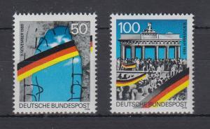 Bundesrepublik 1990 1. Jahrestag der Mauer-Öffnung  Mi.-Nr. 1481-1482 **
