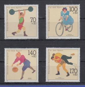 Bundesrepublik 1991 Sporthilfe Weltmeisterschaften  Mi.-Nr. 1499-1502 **