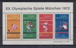 Bundesrepublik 1972 Blockausgabe Olympische Spiele München  Mi.-Nr. Block 8 **