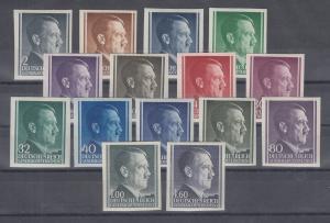 Generalgouvernement Hitler ungezähnt Lot 15 verschiedene Werte **