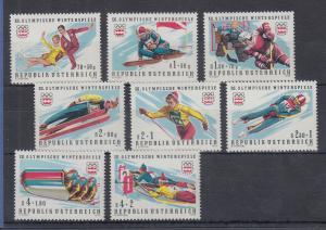 Österreich 1976, XII. Olympische Winterspiele Innsbruck Satz 8 Werte kpl. **