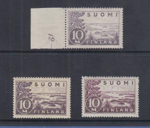 Finnland / Suomi Freimarke 10M Mi.-Nr. 156 in allen 3 Varianten postfrisch **