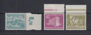 Berlin 1954 Freimarken Berliner Bauten Mi.-Nr. 121-123 kpl. Satz 3 Werte **