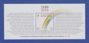 Vatikan Blockausgabe 2014 Mi.-Nr. Block  47 ** Fall der Berliner Mauer