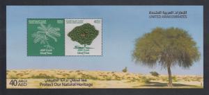 Vereinigte Arabische Emirate 2011 Block 62 ** Ghaf-Baum mit Fadengeflecht