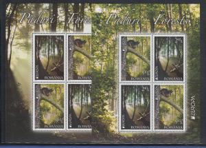 Rumänien 2011 Mi.-Nr. 6522-23  Kleinbogensatz ** EUROPA  Der Wald