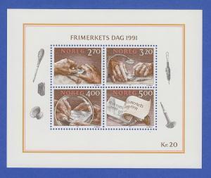 Norwegen 1991 Block 15 **   Tag der Briefmarke - Der Stichtiefdruck