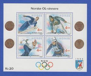 Norwegen 1991 Block 16 **   Olympische Winterspiele 1994 (III).