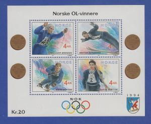 Norwegen 1992 Block 17 **   Olympische Winterspiele 1994 (IV).