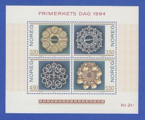 Norwegen 1994 Block 21 **  Trachtensilber