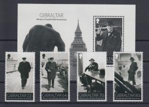 Gibraltar 2015 Mi.-Nr. 1675-78 und Block 119  50. Todestag von Winston Churchill