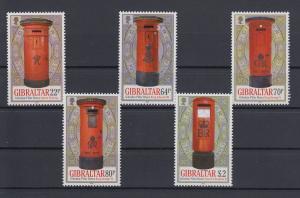 Gibraltar 2016 Mi.-Nr. 1751-55 Satz 5 Werte historische Briefkästen