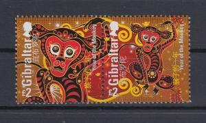 Gibraltar 2016 Mi.-Nr. 1715-16 Satz 2 Werte Chinesisches Neujahr  Jahr des Affen
