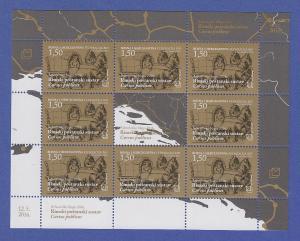 Bosnien Kroatische Post Mostar Mi.-Nr. 430 Kleinbogen ** Römische Reisekutsche