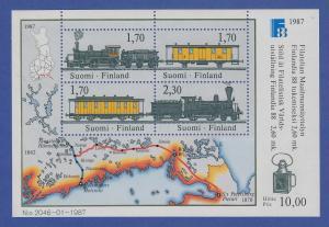 Finnland Blockausgabe 1987 Mi.-Nr. Block 3 ** FINLANDIA `88 Helsinki (III).