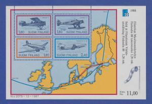 Finnland Blockausgabe 1988 Mi.-Nr. Block 4 ** FINLANDIA `88 Helsinki (IV).