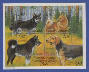 Finnland Blockausgabe 1989 Mi.-Nr. Block 5 ** Bund finnischer Hundezüchter