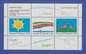 Finnland Blockausgabe 1991 Mi.-Nr. Block 7 ** Kinderzeichnungen - Malwettbewerb