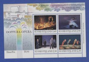 Finnland Blockausgabe 1993 Mi.-Nr. Block 10 ** Eröffnung Opernhaus Helsinki