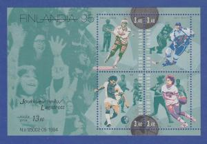 Finnland Blockausgabe 1995 Mi.-Nr. Block 15 ** FINLANDIA `95 Helsinki