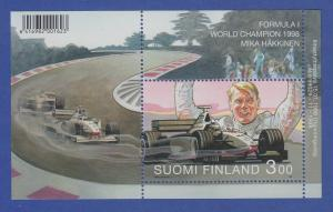 Finnland Blockausgabe 1999 Mi.-Nr. Block 20 ** Mika Häkkinen Formel 1 WM 1998