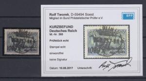 Dt.Reich Inflation Rhein-Ruhrhilfe Mi.-Nr. 260 sauber gest BERLIN gepr. Infla