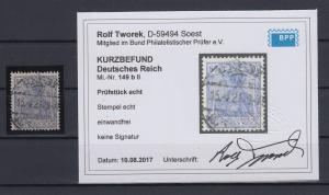 Dt.Reich Inflation Germania Mi.-Nr. 149 b II echt gest RIESA gepr. Infla