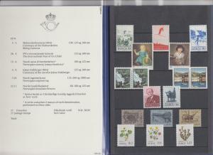 Norwegen Briefmarken-Jahrgang 1979 ** (ohne Block) in amtlicher Jahresmappe