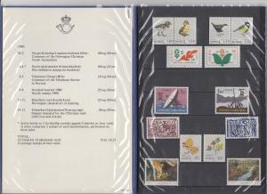 Norwegen Briefmarken-Jahrgang 1980 ** (ohne Block) in amtlicher Jahresmappe