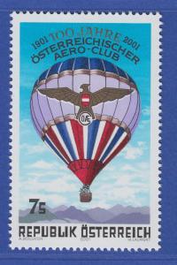 Österreich 2001 Sondermarke 100 Jahre Aero-Club ÖAeC , Ballon  Mi.-Nr. 2346