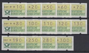 Deutschland ATM Mi-Nr. 1.1  Tastensatz TS2 Lübeck-Travemünde **, alle mit Nr.