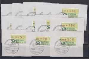 Deutschland ATM Mi-Nr 1.1 Tastensatz TS2 gest. Lübeck-Travemünde 23.7.86